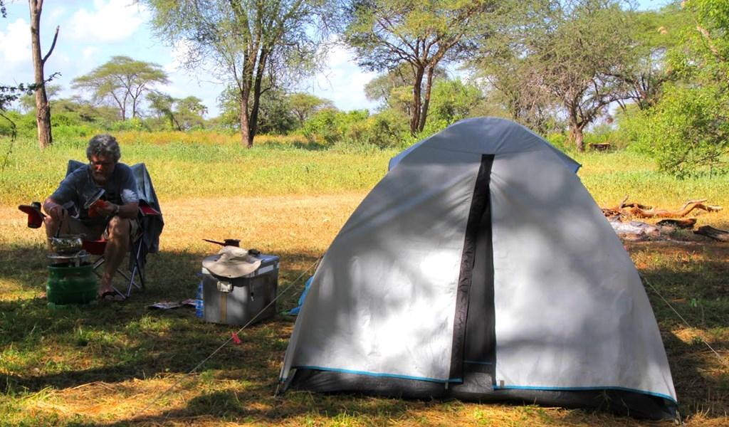 Camping in Meru National Park in kenya